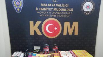 Malatya'da Kaçak Cinsel İçerikli Hap, Çikolata, Mendil Ele Geçirildi