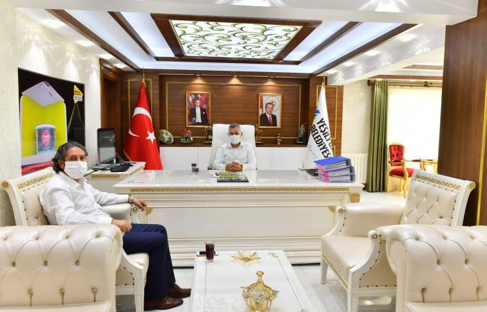 Başkan Çınar, Malatya İl Milli Eğitim Müdürü Ali Tatlı'yı Misafir Etti