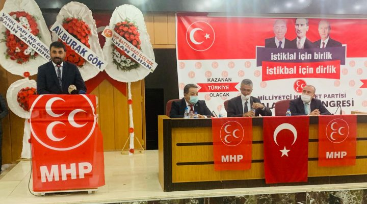 MHP Malatya İl Başkanlığı İl Kongresini Büyük Bir Coşku İle Gerçekleştirdi.