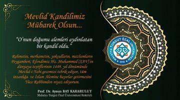 Rektör Prof. Dr. Karabulut'tan Mevlid Kandili Mesajı