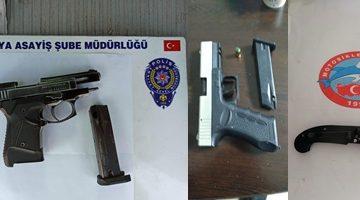 Polis Fuhuş Yapan, uyuşturucu bulunduran ve Ruhsatsız Silah bulunduran Şahısları yakaladı
