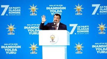 """Başkan Gürkan Ak Parti Kongresinde Konuştu: """"Cumhurbaşkanımızın Kaderi Bu Ülkenin Kaderiyle Birleşmiştir"""""""