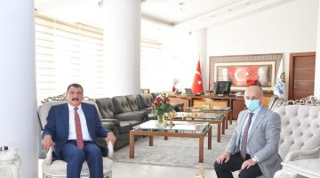 Başkan Gürkan, MEVLİD-İ NEBİ Haftası Nedeniyle İl Müftüsü Işıldar'ı Ağırladı