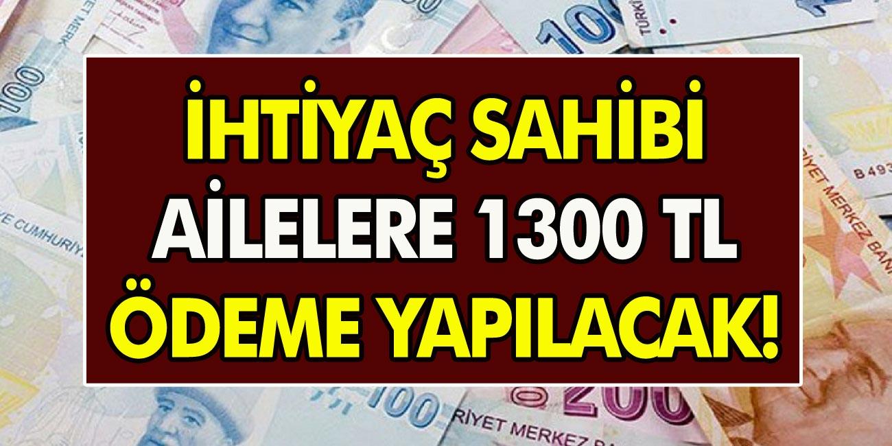 Aile Bakanı açıkladı: İhtiyaç sahibi olan ailelere ödeme yapılacak! Başvuru yapanlar, 1.300 TL alıyor!