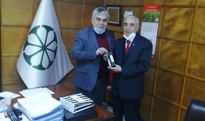 Başkan Ali Evren'e Müdür Altun ve Başkan Murat'tan Ziyaret