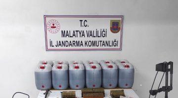 Jandarmadan Arapgir ilçesinde Kaçak Rakı imalatına baskın