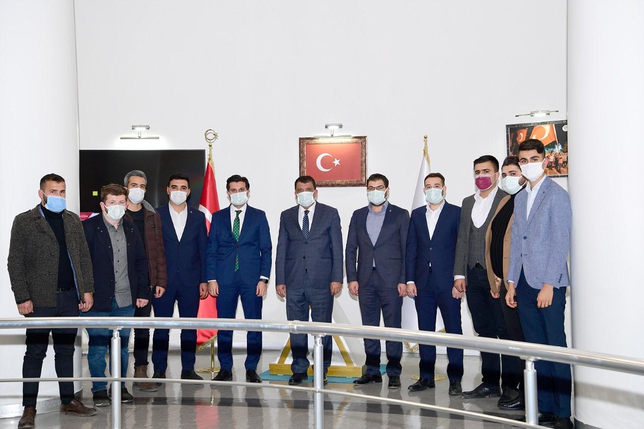 Ak Parti  Gençlik Kollarından Başkan Gürkan'a Ziyaret