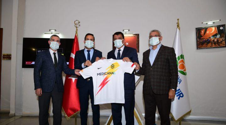 Yeni Malatyaspor Başkanı Adil Gevrek'ten Başkan Gürkan'a Ziyaret