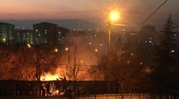 Kayısı bahçesindeki Yangın Korkuttu