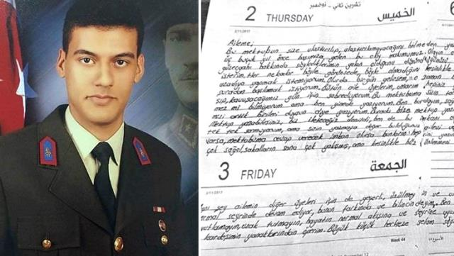 Gara şehidi Astsubay Semih Özbey'in terör örgütünün elindeyken ailesine yazdığı mektup ortaya çıktı