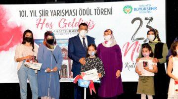 Büyükşehir Belediyesi 23 Nisan 101. Yıl Şiir Yarışması Ödül Töreni Yapıldı