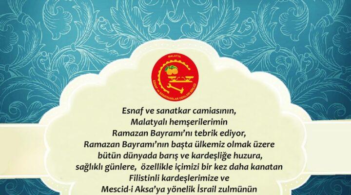 ESOB Başkanı Şevket Keskin'in Ramazan Bayramı Mesajı