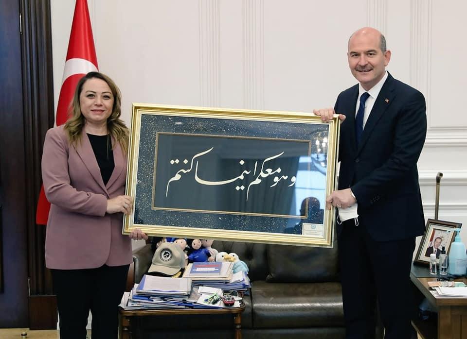 Rektör Karabulut'tan Bakan Soylu ve İletişim Başkanı Altun'a Ziyaret