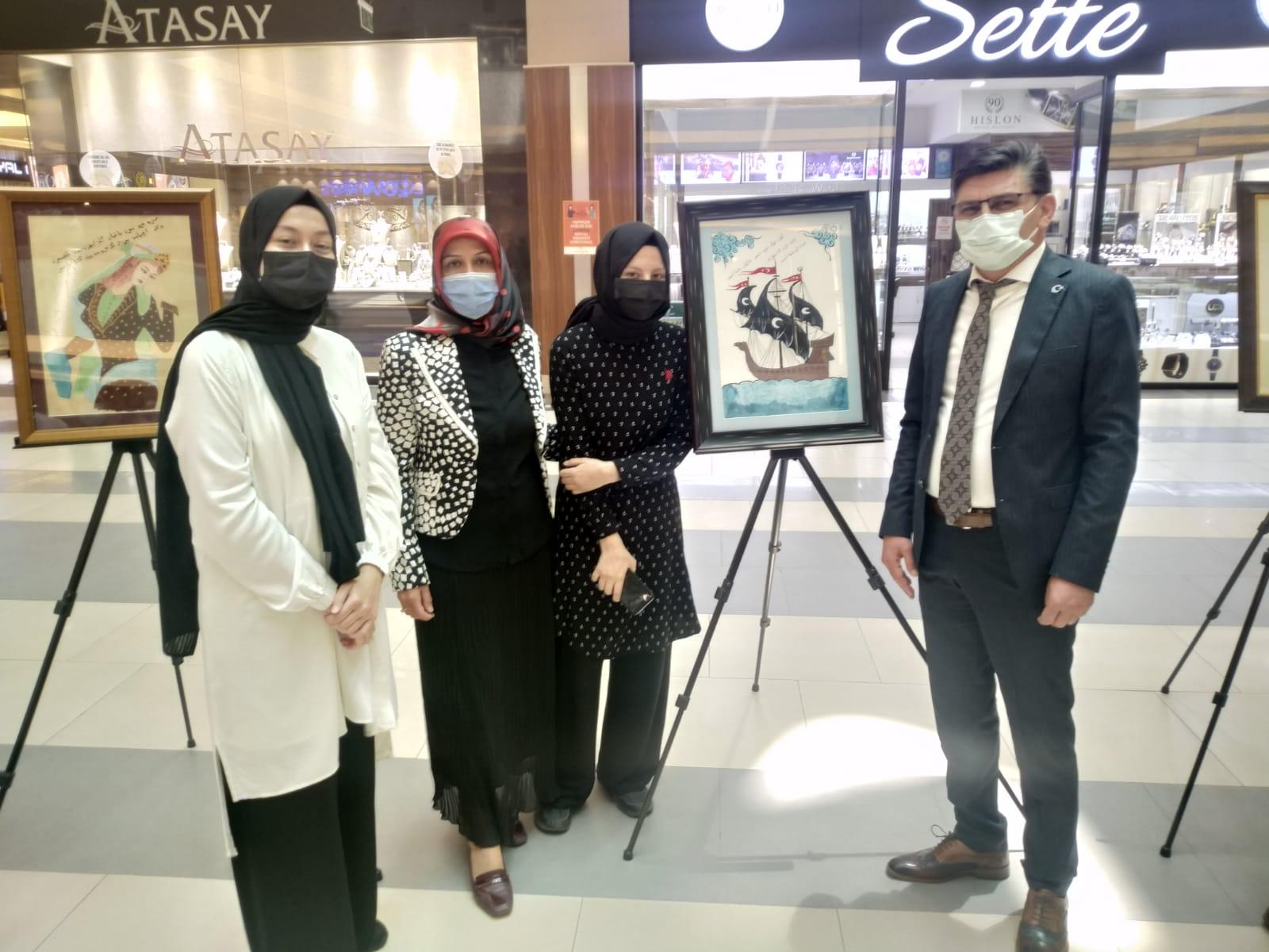 Selahaddin Eyyübi İmam Hatip Lisesinin İslam sanatları Sergisi Büyük ilgi gördü