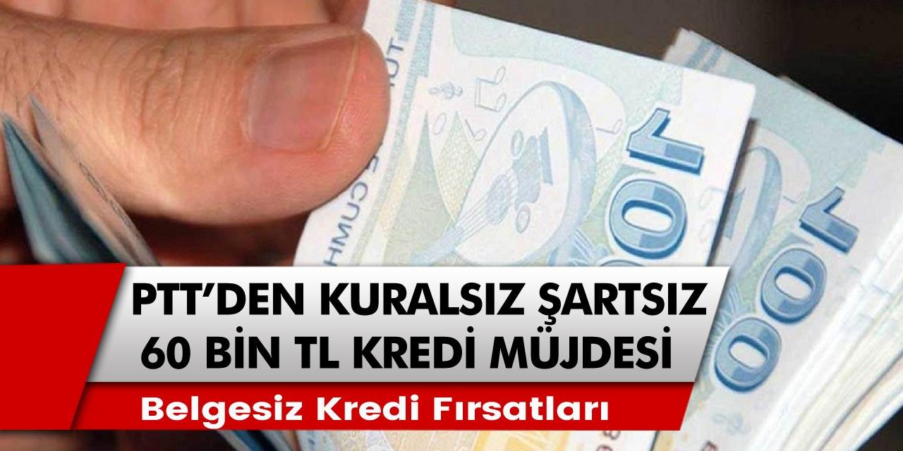 PTT'den Emeklilere Kefilsiz, Belgesiz 60 Bin TL Kredi Fırsatı!