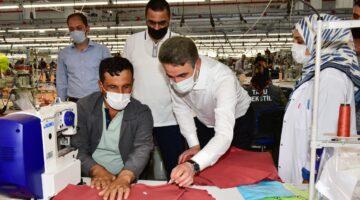 Vali Baruş, Uplass Ambalaj Sanayi, Günöz Tekstil ve Talu Tekstil İşletmelerini Ziyaret Etti