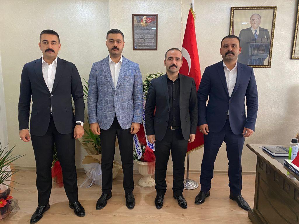 Başkan  Şengönül'e 3 İlin Ocak Başkanlarından Ziyaret
