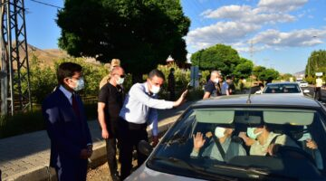 Vali Baruş, Darende ve Doğanşehir Yol Kontrol Noktalarını Ziyaret Etti