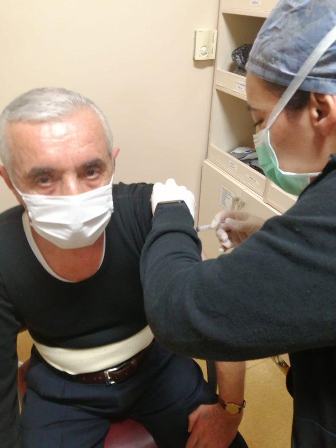 """Başkan Ali Evren'den Uyarı """" Aşılarımızı olalım ,maskemizi takmaya devam edelim"""