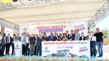24 Derslikli Rıdvan Mertöz Ortaokulu Temel Atma Töreni Yapıldı