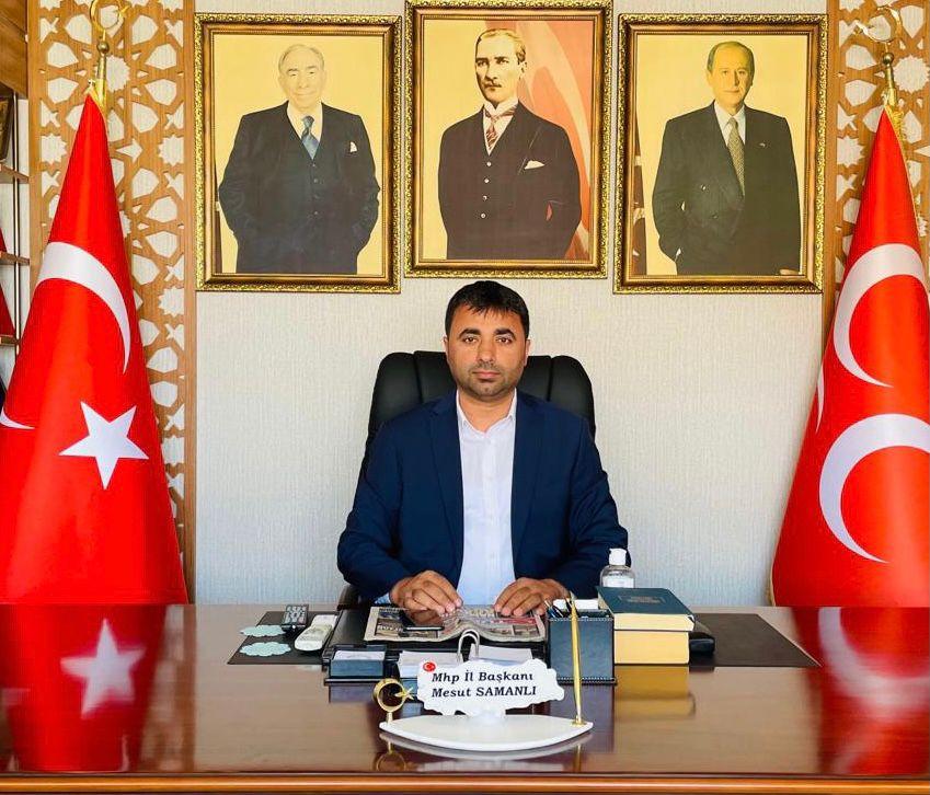 MHP İl Başkanı Mesut Samanlı'dan Kurban Bayramı Mesajı