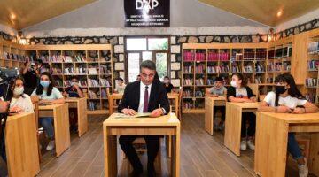 Vali Baruş Doğanşehir Halk Kütüphanesinin Açılışını Yaptı