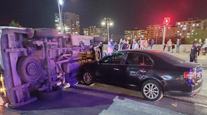 Yeşilyurt Yolunda Feci Kaza Ambulans Takla attı
