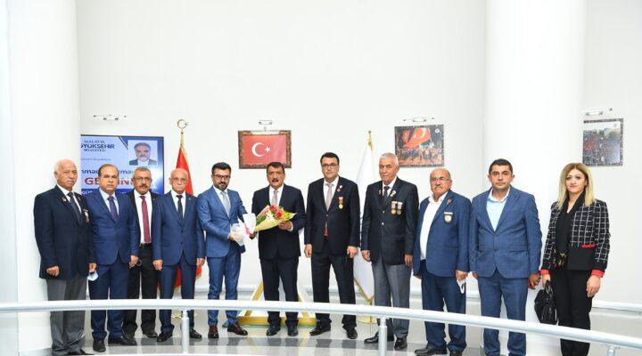Şehit ve Gazi Derneklerinden Başkan Gürkan'a Ziyaret