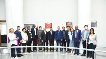 Yabancı Ülke Temsilcilerinden Başkan Gürkan'a Ziyaret