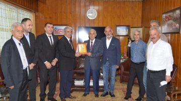 Malatya'da Oda Başkanlarından; ESKKK Başkanı Ali Evren'e plaket